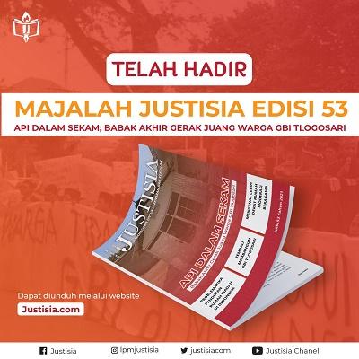 Telah Hadir Majalah Justisia Edisi 53